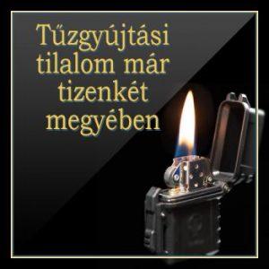 Tűzgyújtási tilalom Csongrád-megyében március 1.-től